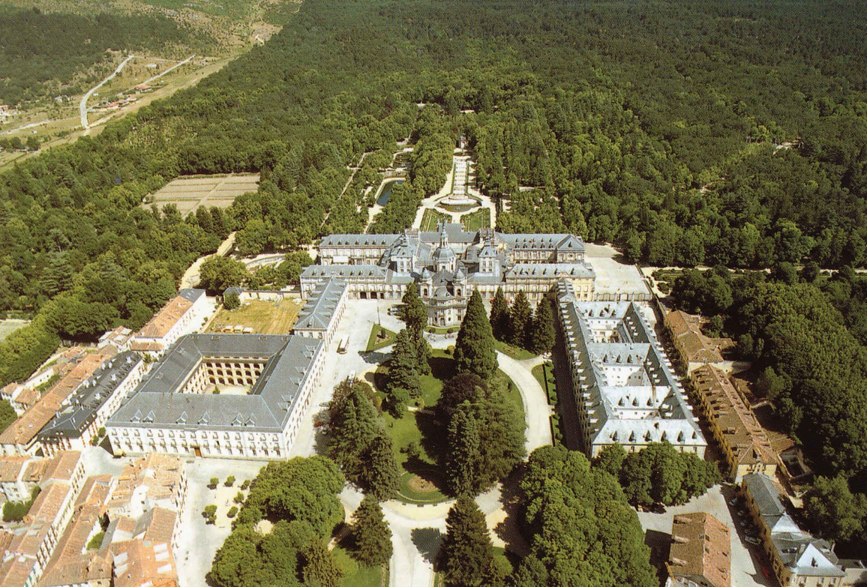 Vista aérea Palacio y Jardines